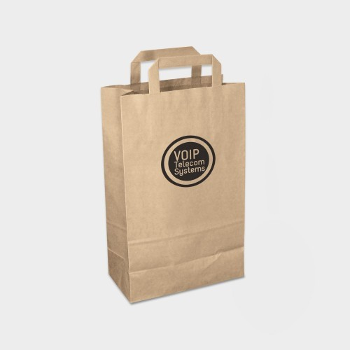 Green & Good Paper Carrier Bag Medium - Recycled Paper, white, green, yellow, blue, red, purple, eco