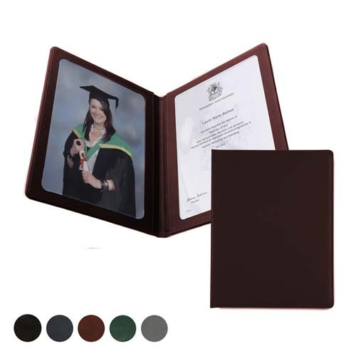 Hampton Leather A4 Presenter Or Menu Holder, Black, Red, Green, Blue, Green