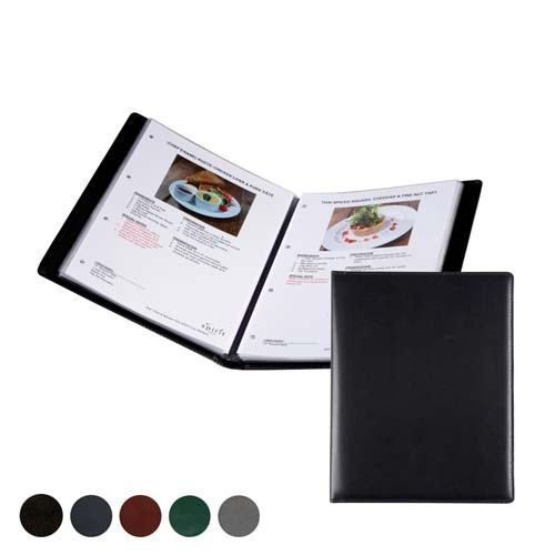 Hampton Leather A4 Information, Wine List Or Menu Holder, Black, Red, Green, Blue, Green
