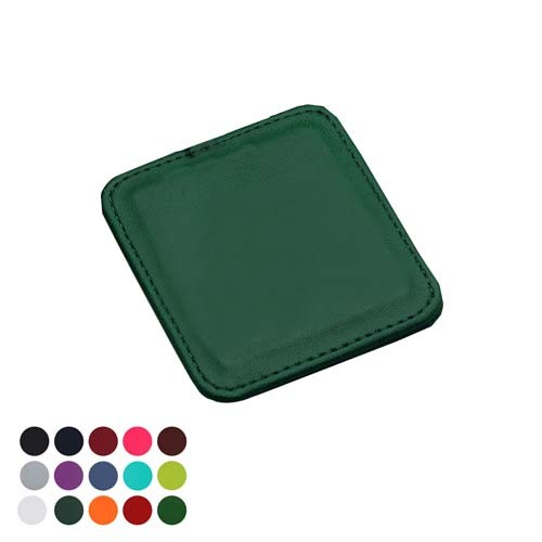 Deluxe Square Coaster With Edge Stitching In A Choice Of Belluno Colours, black, blue, blue, blue, blue, blue, purple, red, red, red, pink, pink, yellow, green, green, green, green, orange, white, brown, brown, brown,