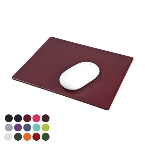 Leatherette Mousemat In A Choice Of Belluno Colours, Black, Blue, Blue, Blue, Blue, Blue, Purple, Red, Red, Red, Pink, Pink, Yellow, Green, Green, Green, Green, Orange, White, Brown, Brown, Brown,