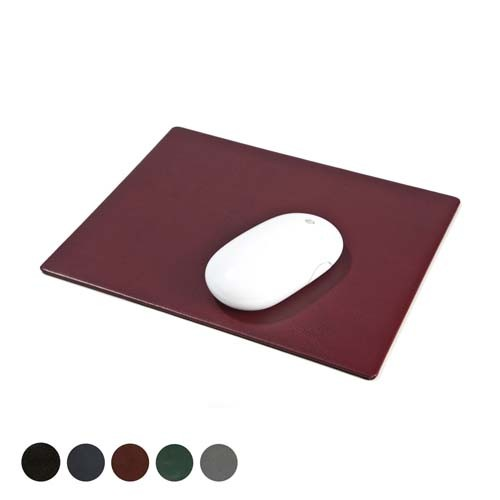 Hampton Leather Mousemat, Black, Red, Green, Blue, Green