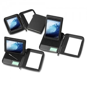 Mini Zipped Adjustable Tablet Holder With A Multi Position Tablet Stand, Black