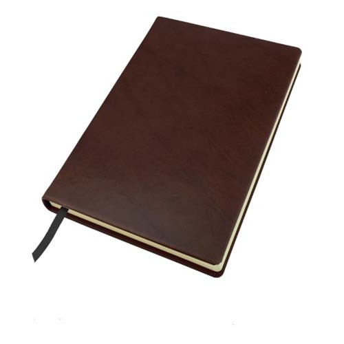 Richmond Deluxe Nappa Leather A5 Casebound Notebook, Black, Brown