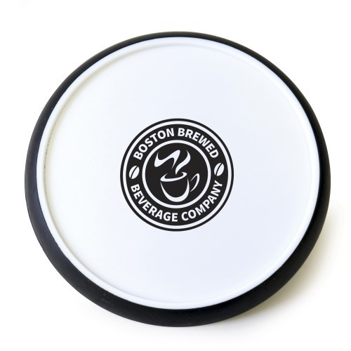 Disc Coaster, white, black, white, blue, white, red