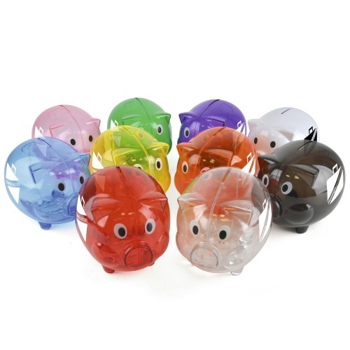 Piggy, Orange, Black, Blue, Green, Pink, Purple, Red, Green, Clear, White, Yellow