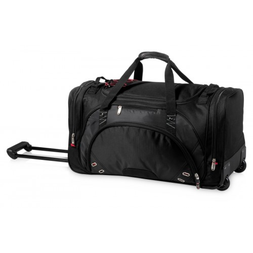 Proton Wheeled Duffel Bag, Black,