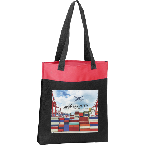 Expo Tote Bag Deluxe (Spot Colour Print - Large Print Area), Black, Blue, Black, Red, Black, White, Black, Black