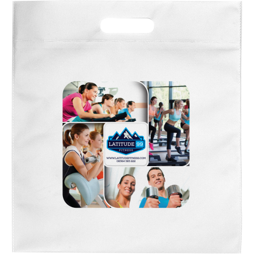 Top Tote Bag (Spot Colour Print - Large Print Area), Blue, Red, White