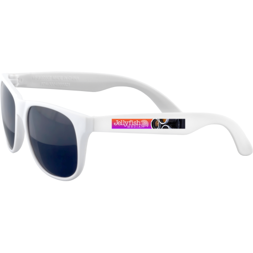 Fiesta Sunglasses (Spot Colour Print - Both Sides Printed), white, yellow, orange, pink, red, green, blue, blue, purple, black
