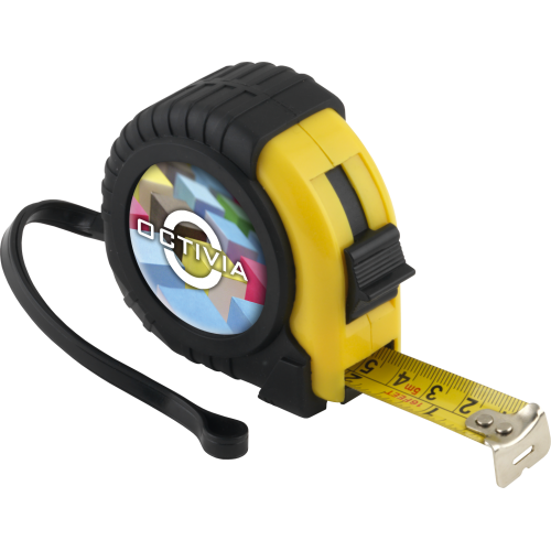 Tape Measure - 3 Metre (Full Colour Dome), Black, Black, Black, Yellow