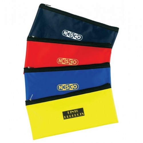 Nylon Pencil Case, Blue, Blue, Red, Yellow