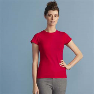 Gildan Softstyle Women's Ringspun T-Shirt, red, pink, blue, pink, black, black, brown, red, blue, yellow, yellow, brown, pink, orange, purple, green, blue, green, blue, pink, green, green, blue, purple, red, blue, yellow, blue, grey, white
