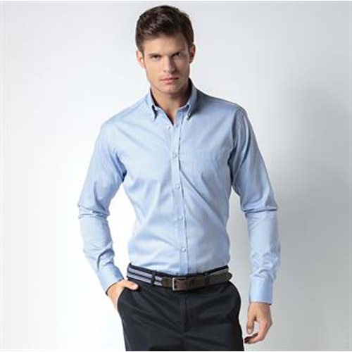 Slim fit premium Oxford shirt long sleeve, Black, Blue, White