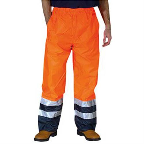 Hi-vis waterproof overtrousers (HVS463), Orange, Blue, Yellow, Blue