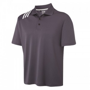 adidas ClimaCool 3 stripe solid polo, Black, White, Blue, White, Blue, White, Grey, White,