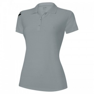 adidas Women's corporate 3 stripe polo, Black, White, Grey