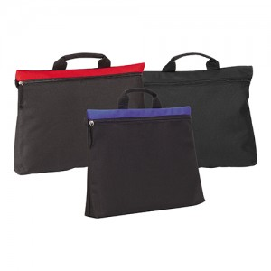 Swale Document Bag, Black, Black, Red, Black, Blue