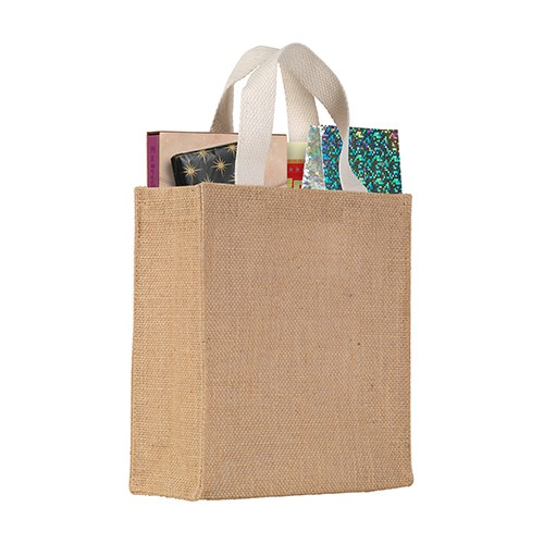 Egerton' Jute Mini Gift Bag, natural