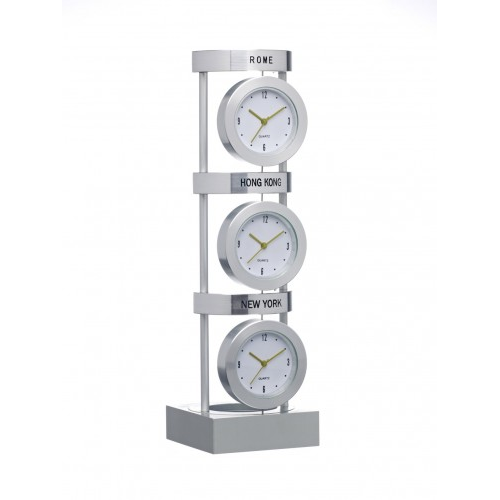 3 City Clock, grey