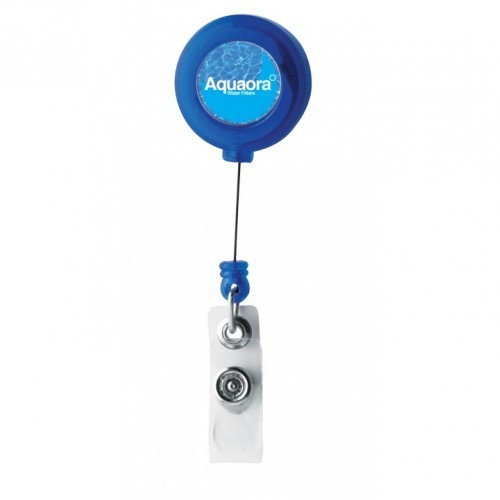 Retractable Pass Holder, Black, Blue, Green, Red