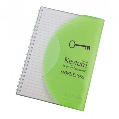 A5 Curve Notebook, Blue, Green, Green, Orange, Pink, Purple, Red, Yellow, Blue, Clear, Green,